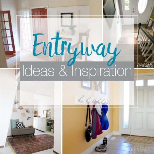 A entryway is the first thing guests see when they come to your home. Create the perfect space with these beautiful entryway ideas and inspiration. | Housefulofhandmade.com