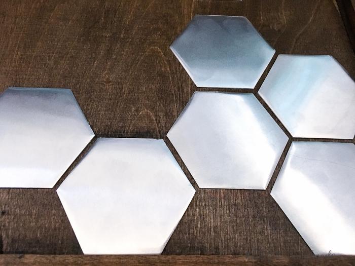 Wall Decor Hexagon : Diy metal hexagon wall art a houseful of handmade