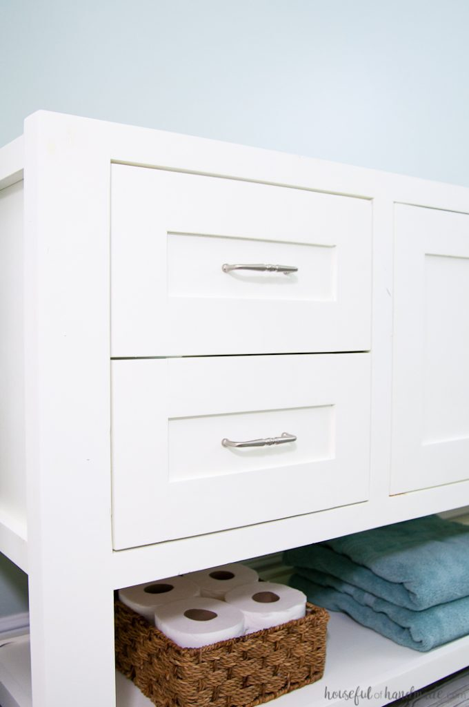 Mission Style Open Shelf Bathroom Vanity Build Plans - a ...