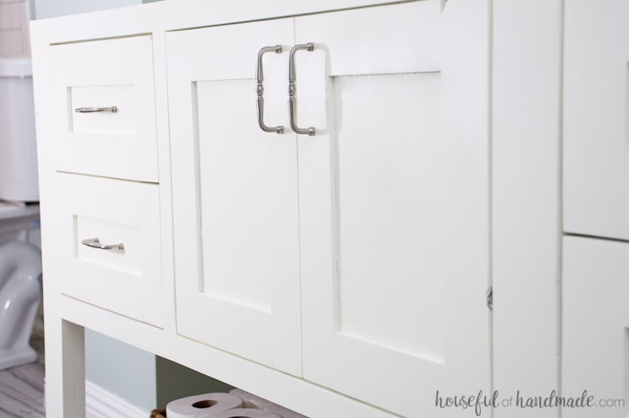 Mission Style Open Shelf Bathroom Vanity Build Plans A Houseful Of Handmade