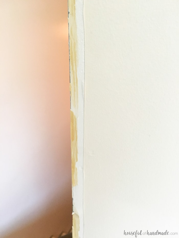 drywall mud shown in hallway