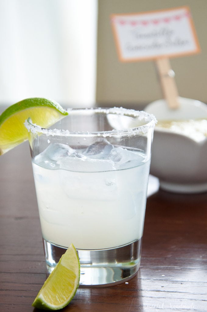 Margarita with two limes for an Adult Birthday Party