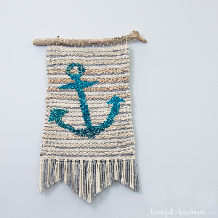 My First Weaving: Woven Anchor Wall Hanging