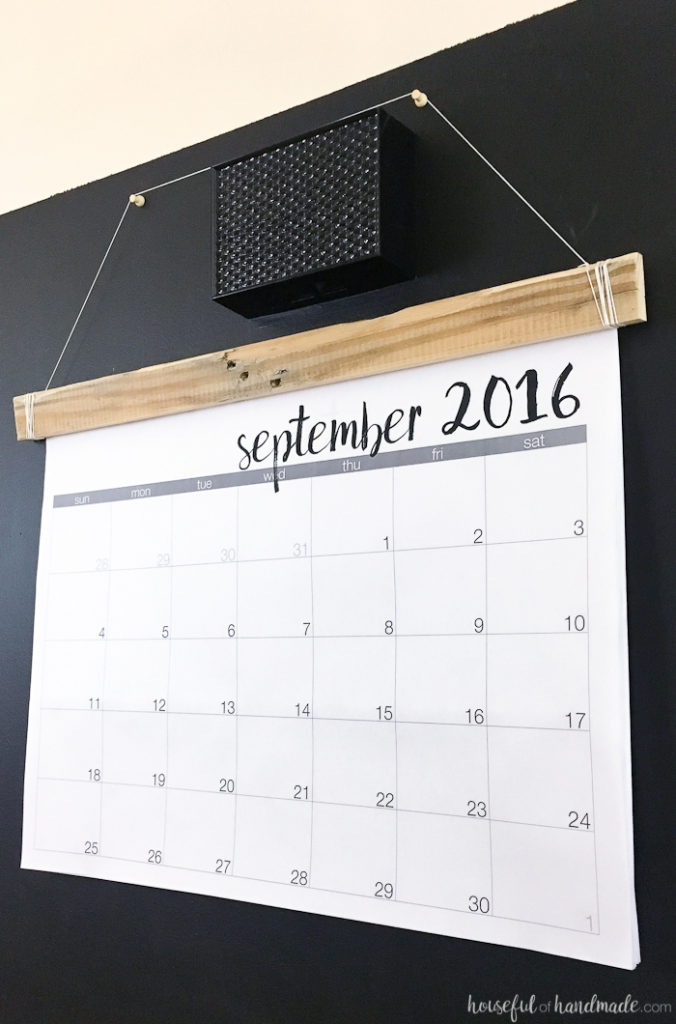 Diy Calendar For School : Diy giant rustic wall calendar with printable a houseful