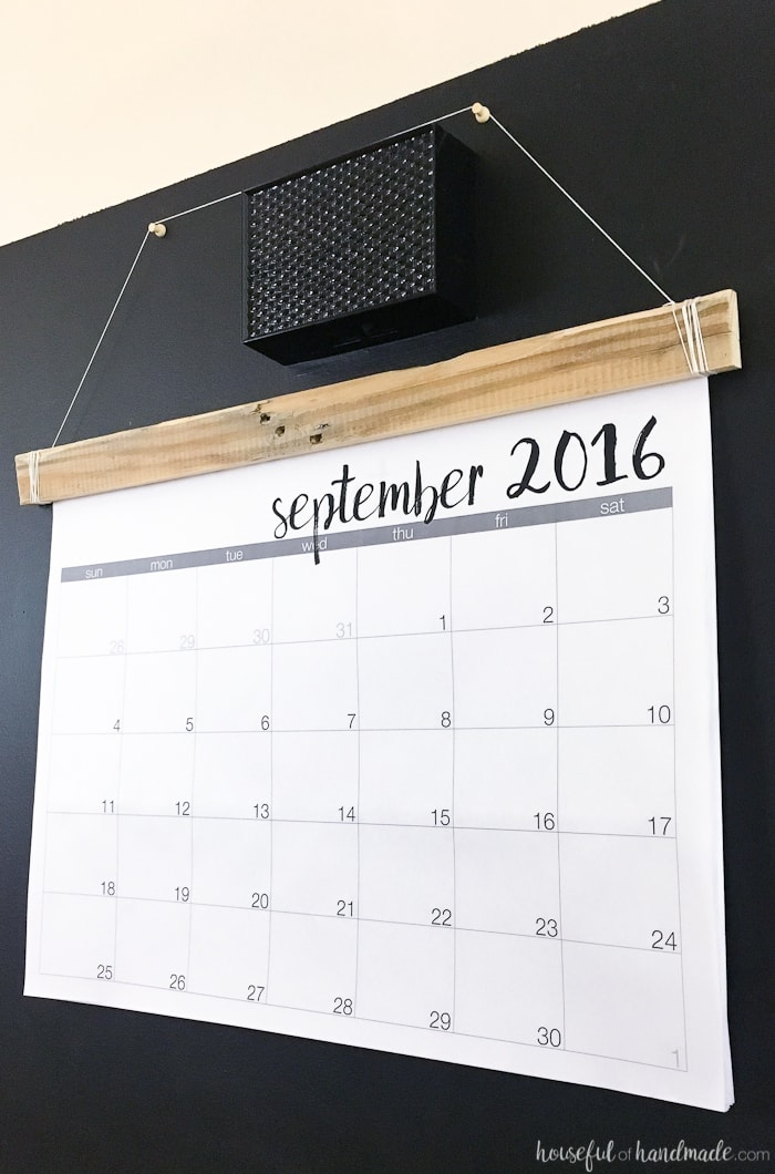 How To Diy Calendar : Diy giant rustic wall calendar with printable a houseful
