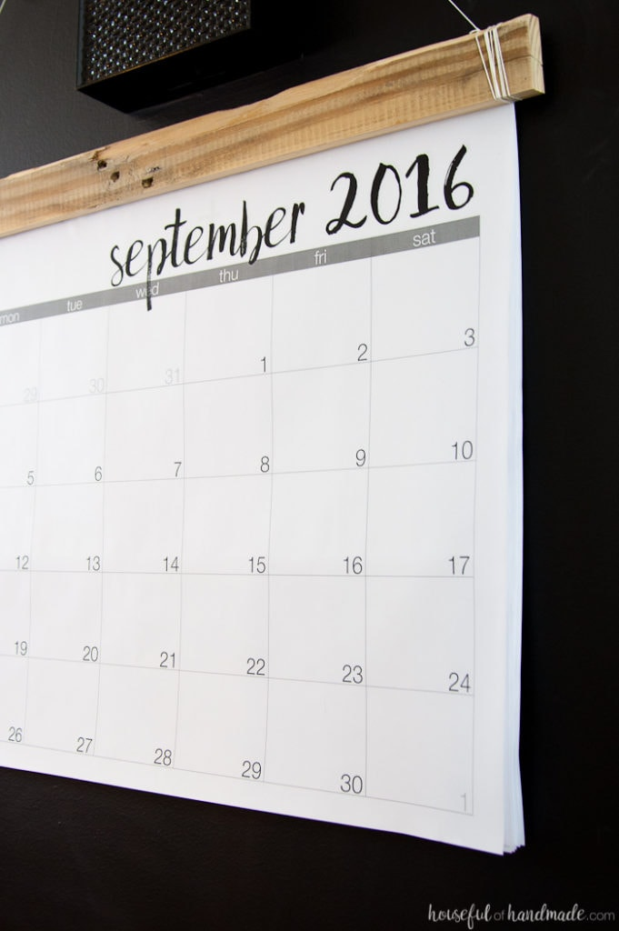 Diy Year Calendar : Diy giant rustic wall calendar with printable a houseful