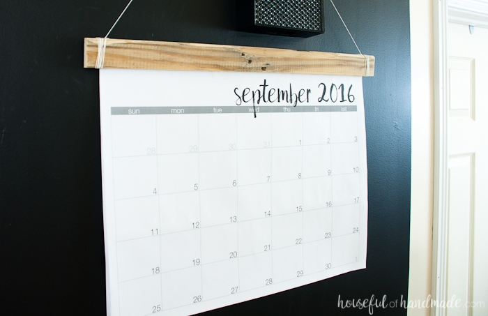 Diy Giant Calendar : Diy giant rustic wall calendar with printable a houseful