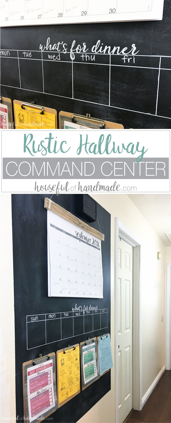 Rustic Hallway Command Center A Houseful Of Handmade
