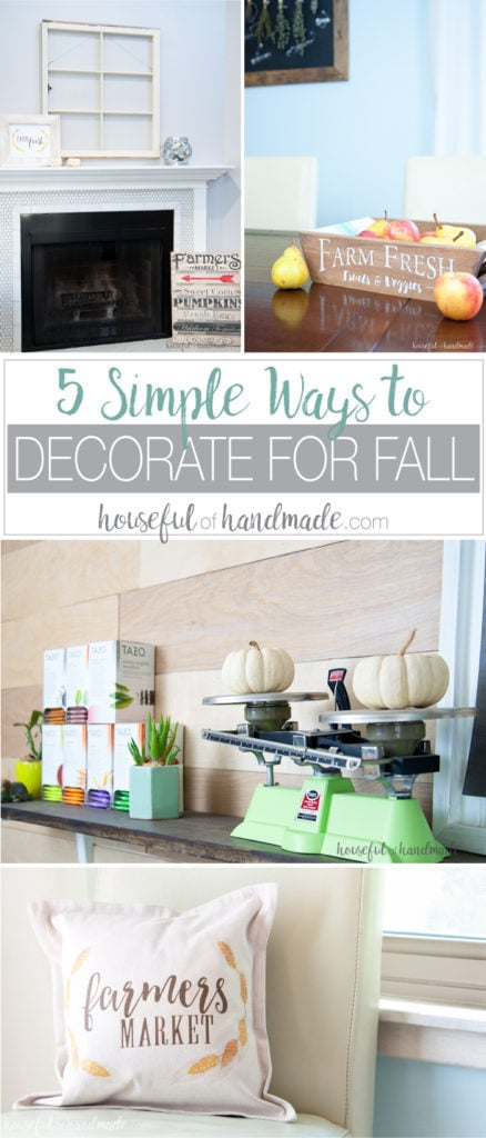 Sometimes your don't have time to go all out with your seasonal decor, but with these simple ways to decorate for fall you can still enjoy a cozy home as the weather starts to turn. | Housefulofhandmade.com