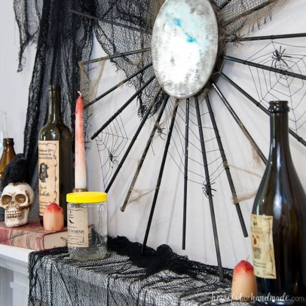 Spooky Apothecary Halloween Mantle