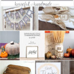 A collection of rustic Thanksgiving decorations you can DIY.