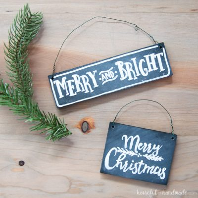 DIY Chalkboard Sign Ornaments & Ornament Blog Hop