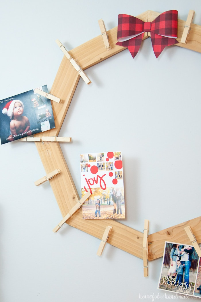 This Is The Cutest Way To Display Your Christmas Cards! Build A DIY Wood  Christmas