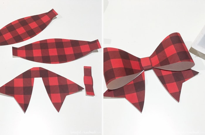 red buffalo check bow