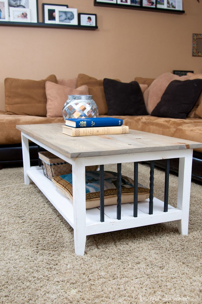 I Love This Simple, Rustic Open Shelf Coffee Table. Create The Perfect  Place To