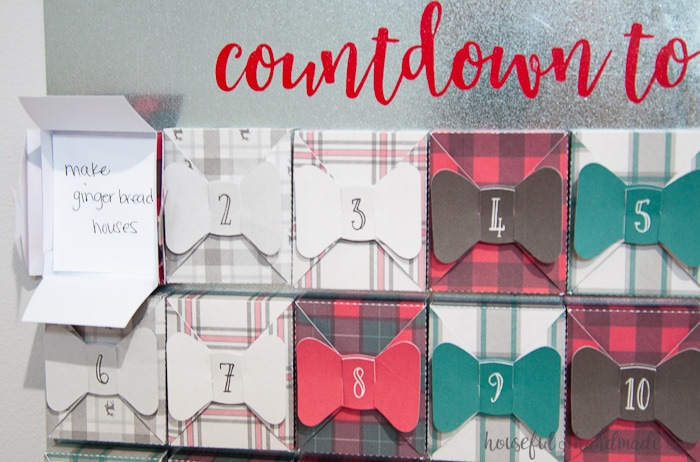 countdown to christmas farmhouse style advent calendar.