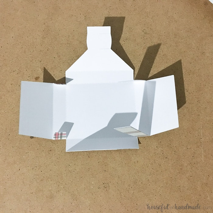 white folded advent calendar paper box.