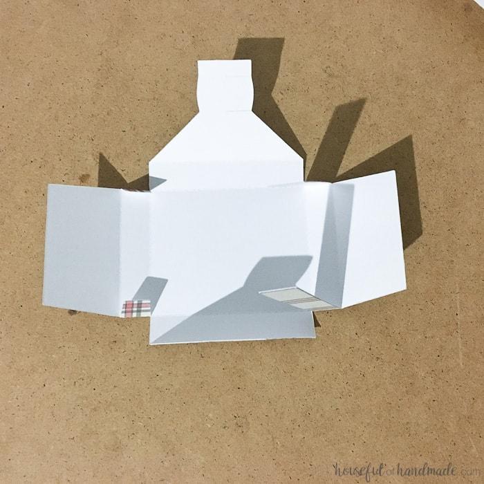 white folded advent calendar paper box.
