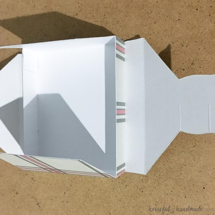 close up of white paper box for advent calendar.