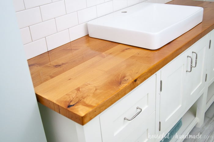 How To Build Amp Protect A Wood Vanity Top A Houseful Of