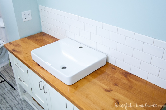 Build Protect A Wood Vanity Top
