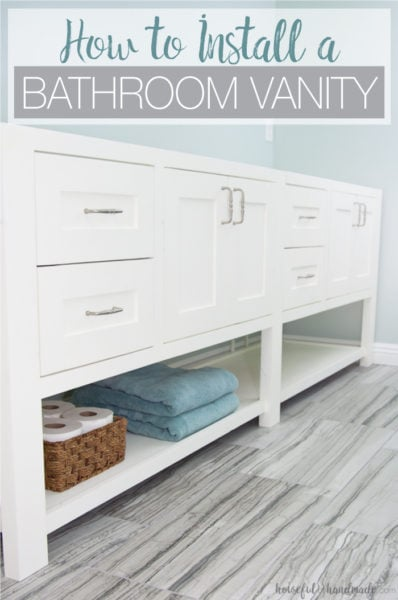 Remodel update how to install a bathroom vanity a - How to install a bathroom vanity ...