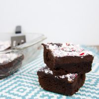 Chewy Brownies with Peppermint Ganache