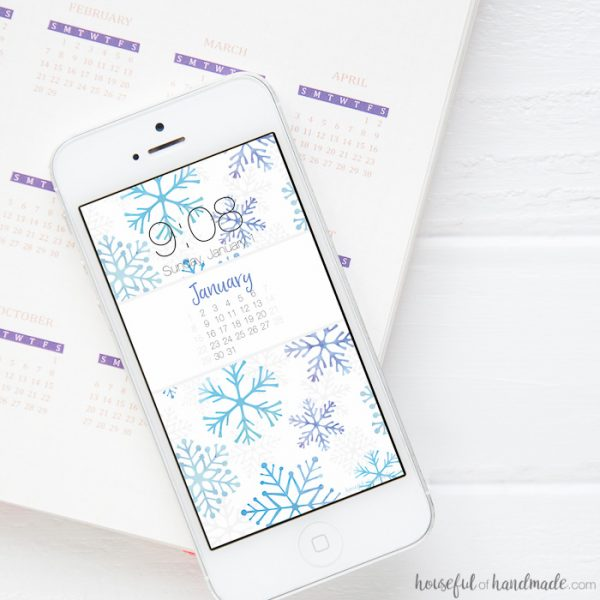 Free Digital Backgrounds for January