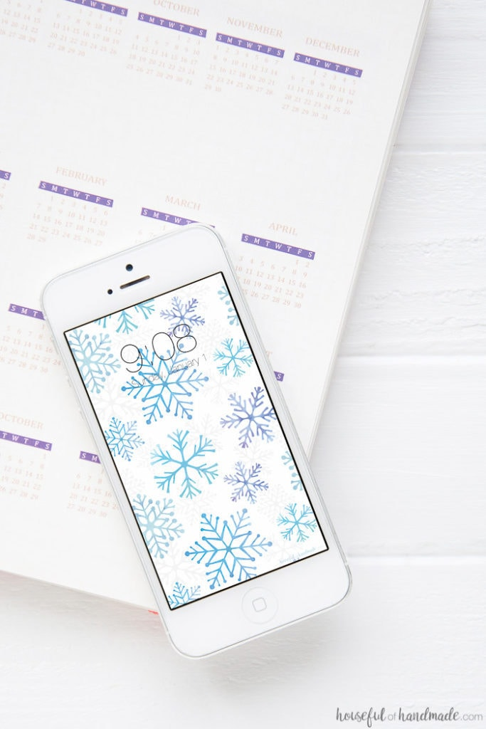 celebrate the new year with these watercolor snowflakes on your phone and computer download these