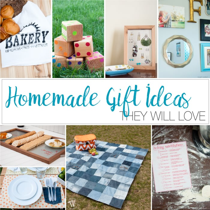 Homemade gift ideas collage of eight diy gifts