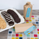 Create the perfect gift with these folded treat boxes. Download these free printable cookie boxes and fill them with your favorite cookies for a quick and easy gift. | Housefulofhandmade.com