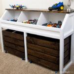 Rustic Toy Storage Unit Build Plans
