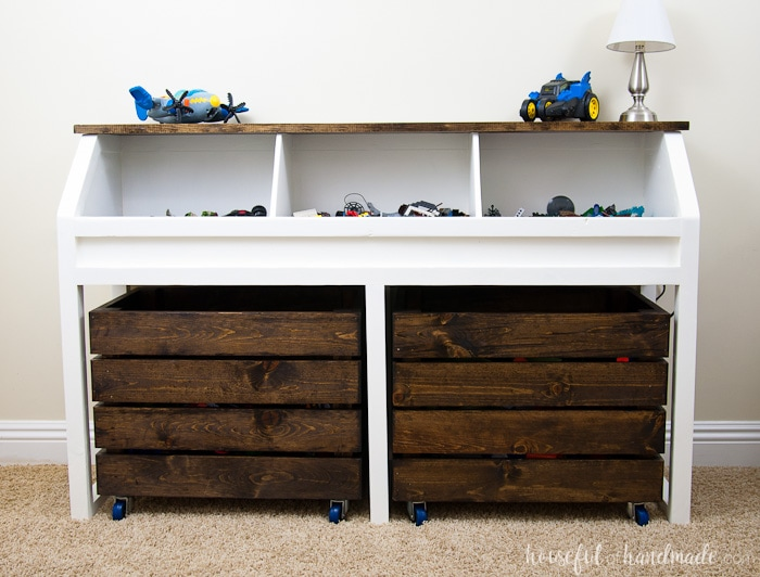 Rustic toy storage unit build plans a houseful of handmade for Storage unit plans