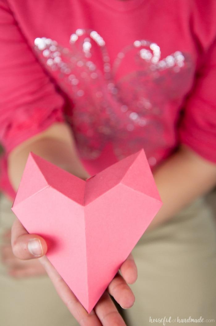 3D Heart Valentine - a Houseful of Handmade