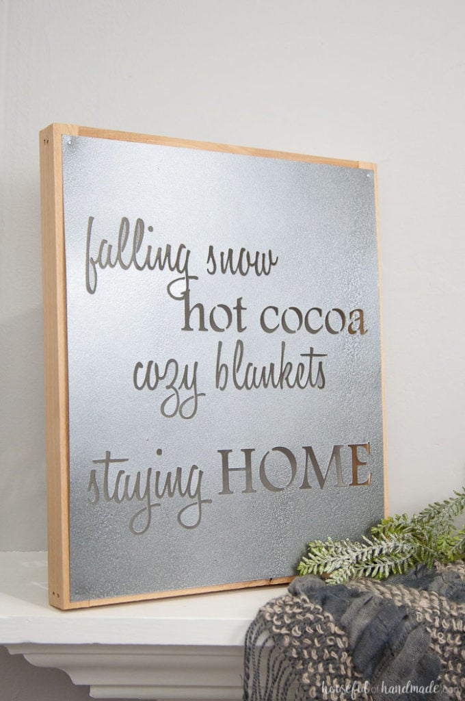 Faux Metal Famrhouse Sign by houseful of handmade