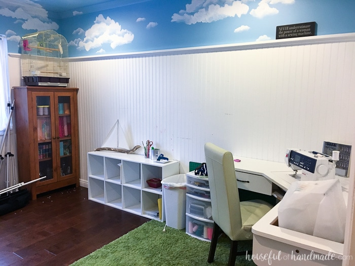 office room diy decoration blue. See How I Make Over This Office \u0026 Craft Room For Only $100! March Diy Decoration Blue E