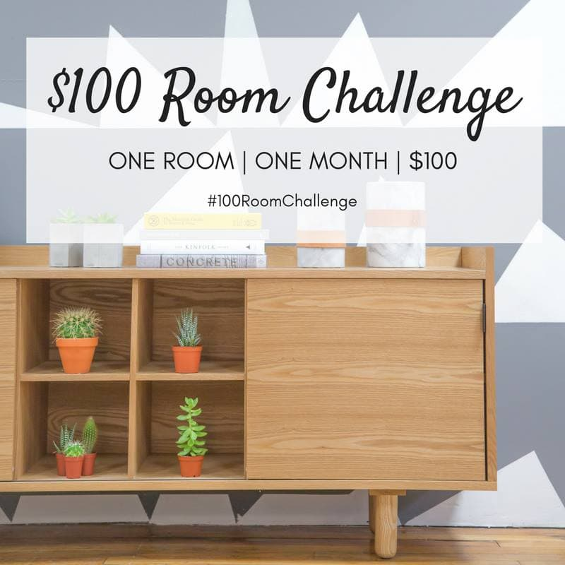 Makeover one room in just one month for only $100! So much creativity #100RoomChallenge