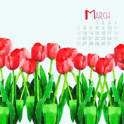 Free Digital Backgrounds for March