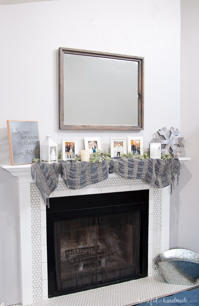 Diy Neutral Winter Mantle Houseful Of Handmade