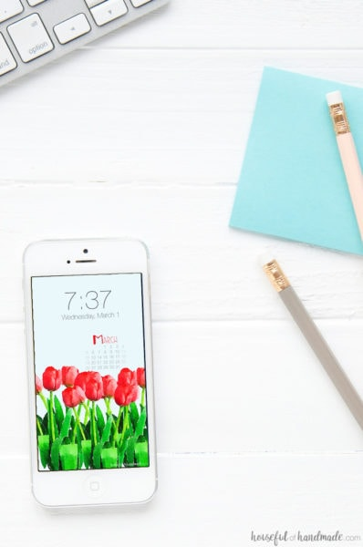 Bring a little spring to your smartphone and desktop with this free digital backgrounds for March! Tulips are the flower of spring and these watercolor tulips are ready to download today. Housefulofhandmade.com