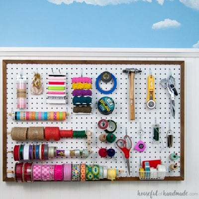 How to Hang Pegboard so it is Removable
