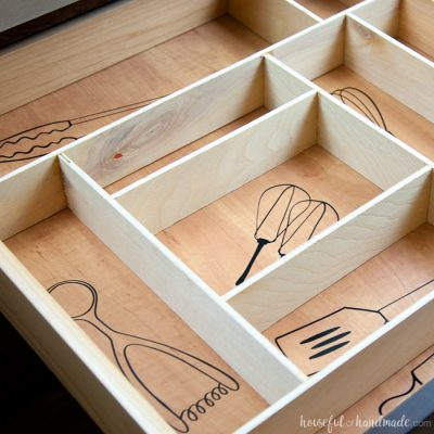 Kitchen Utensil Drawings & Kitchen Drawer Organization
