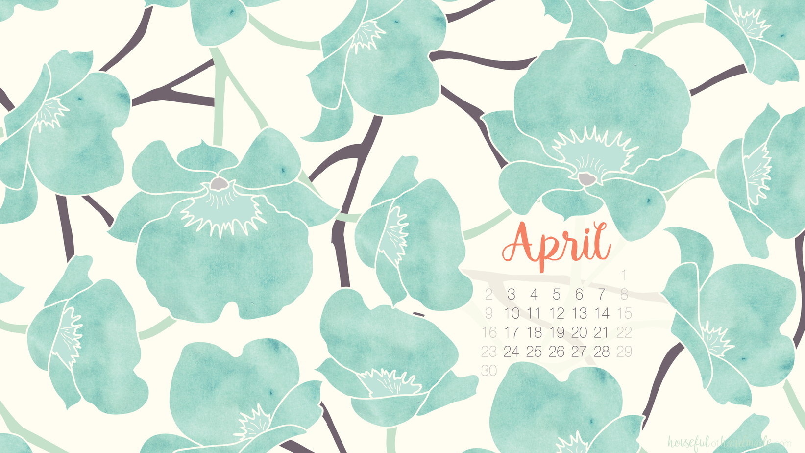 April Calendar Background : Free digital backgrounds for april a houseful of handmade