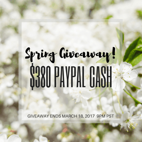 Get a little extra green for spring with this Spring Giveaway! Enter for your chance to win $380 in PayPal cash. | Housefulofhandmade.com