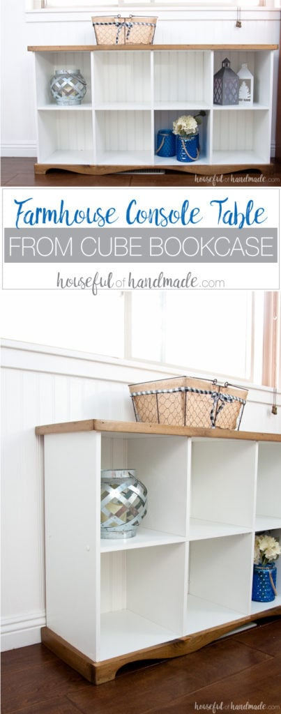 Donu0027t Throw Out Those Old Melamine Bookcases. Create A Beautiful Farmhouse Console  Table