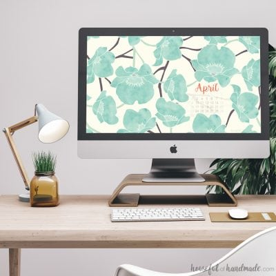 Free Digital Backgrounds for April