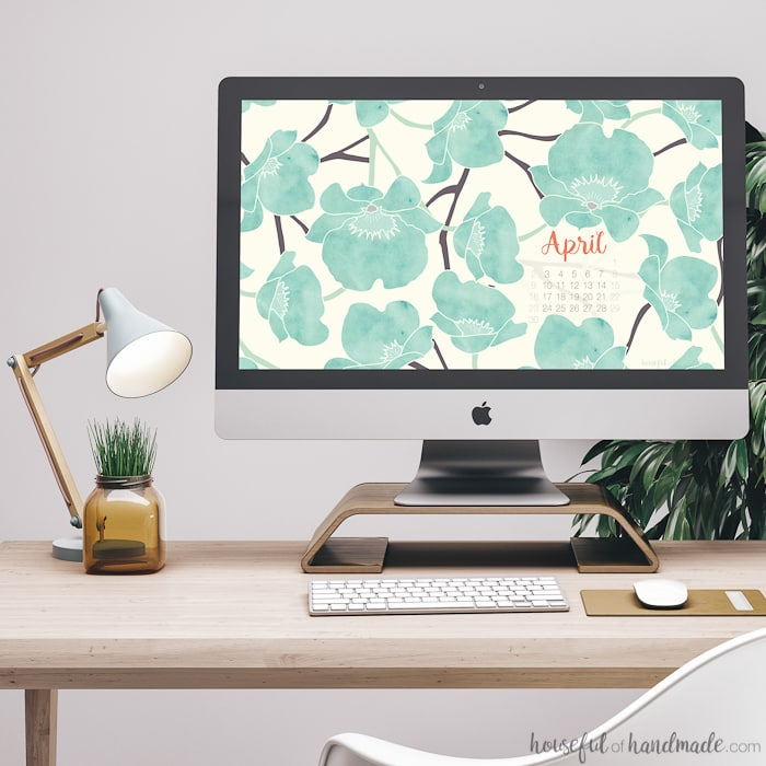 Add a little spring to your desktop and smartphone with these free digital backgrounds for April. Download this soft watercolor floral print for your electronics today. Housefulofhandmade.com | iPhone wallpaper | Desktop Wallpaper | Free Downloadable Background
