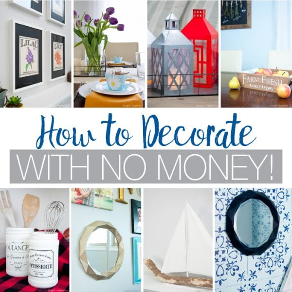 Create a cozy and wonderful space on a budget! Learn tips and ideas for how to decorate with no money (or for less than the cost of a latte). Housefulofhandmade.com   Budget decor   DIY Decor   Paper Decor   How to Decorate   Home Decor Ideas