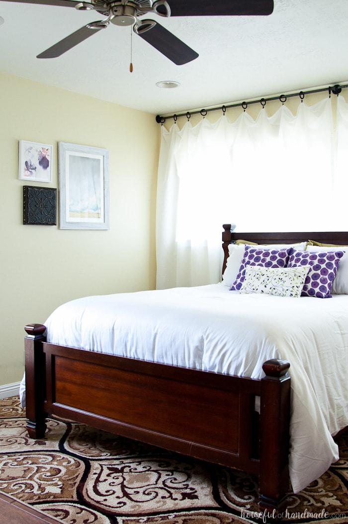 A beautiful summer bedroom is just a few easy steps away. See how I transformed our dark room into the perfect light & bright retreat. Housefulofhandmade.com