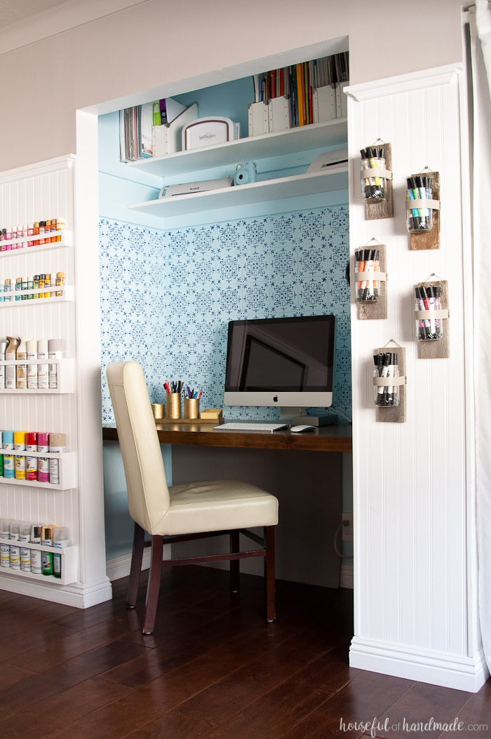 I Love This Chic Farmhouse Style Office Craft Room Reveal The Entire Was